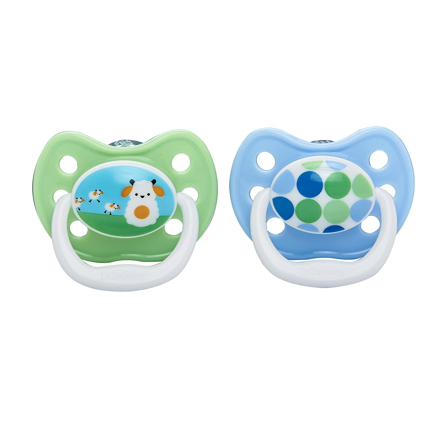Dr. Browns PreVent Design Pacifier, Boys, Stage 1, 0-6 Months by Dr ...