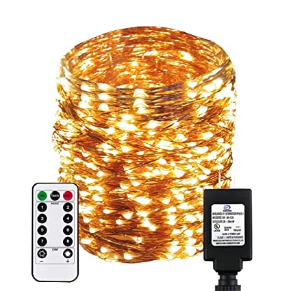 new concept f3f1c fd28e Dreamworth Dimable Led String Lights Plug in Fairy Lights, 333Ft/100M 1000  LEDs Copper Wire String Lights with 8 Modes and Timer,UL Listed, Ideal for  ...