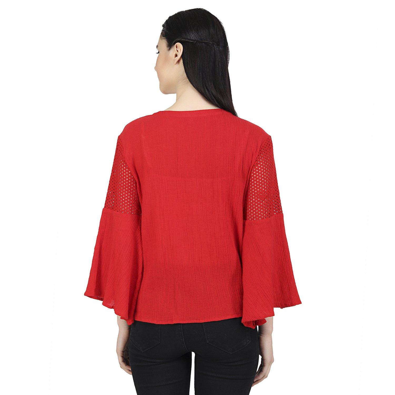 c141ef78ef04f MissGudi Women s Cotton Top (Red Medium)  Amazon.in  Clothing   Accessories