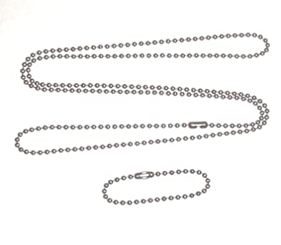 Stainless steel 4.5 in and 27 in. military dog tag ball chain Ships ... 05311b13e073