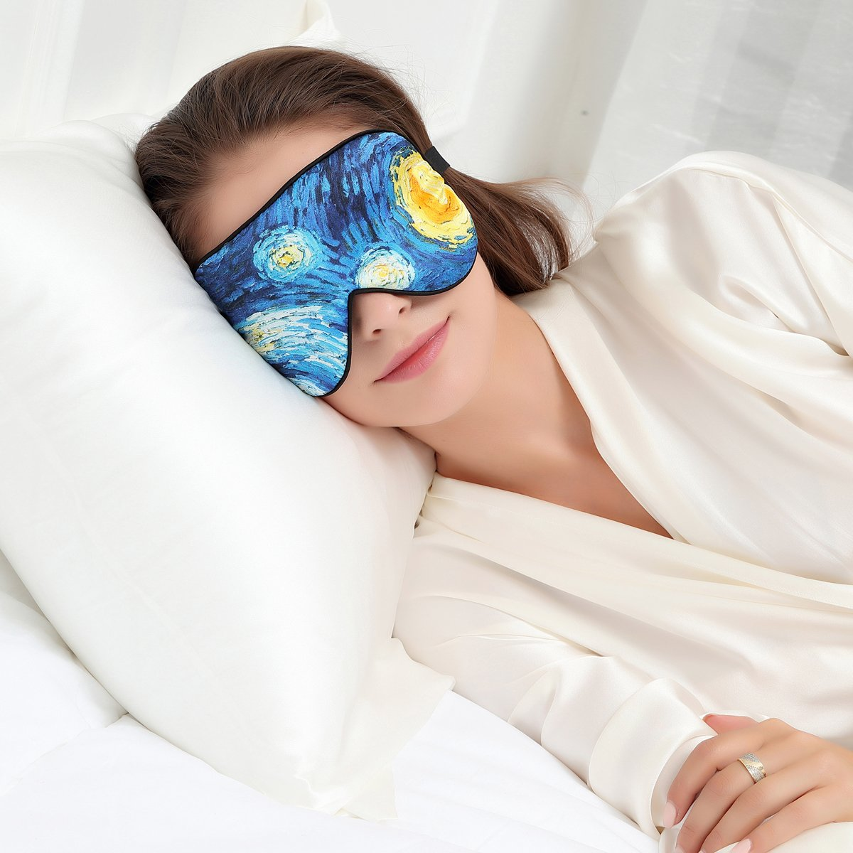 ALASKA BEAR Masque de sommeil Starry Night