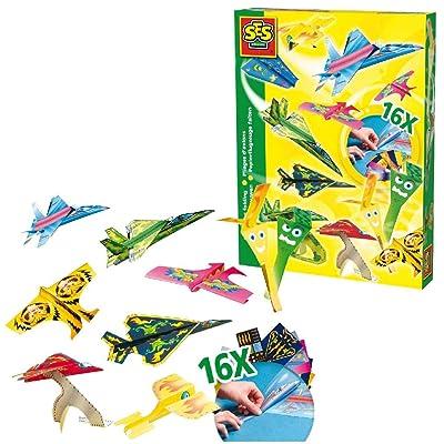 SES Creative - Airplane Folding Set - Interesting Airplane Shapes Stimulates Your Child's Creativity, Imagination and Motor Skills: Toys & Games
