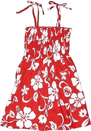 de19814ca3e Amazon.com  RJC Girl s Hibiscus Pareo Hawaiian Smocked Dress  Clothing