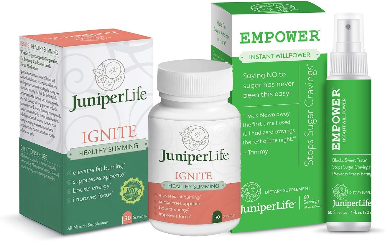 Sugar Killer Combo: Empower & Ingnite - Instantly Reduce Cravings, Binge Eating, & Snacking. Appetite Suppressant for a Normal Controlled Appetite, Boost Energy, Mood, & Healthy Weight Management.