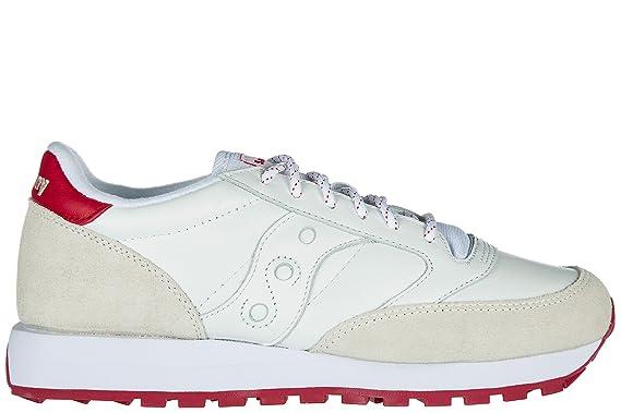 online store 666e0 5beeb Saucony chaussures baskets sneakers homme en daim jazz original blanc   Amazon.fr  Vêtements et accessoires