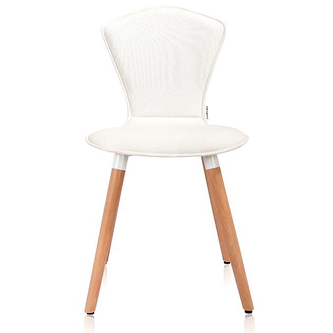 Amazon.com: Krei Hejmo tela silla de comedor con patas de ...