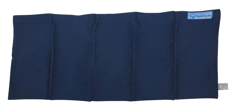 50x20cm W/ärmekissen K/örnerkissen Dinkelkissen Marine-Blau ca