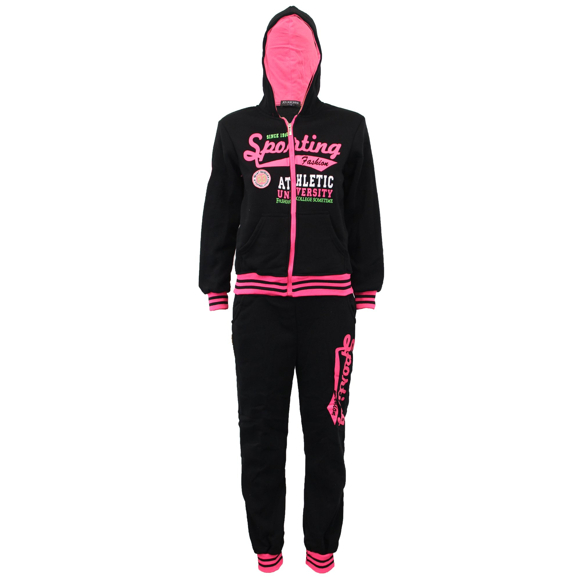 Boys' Tracksuit C73 Black/Fuchsia Size 14 10/11 Years by Unknown (Image #2)