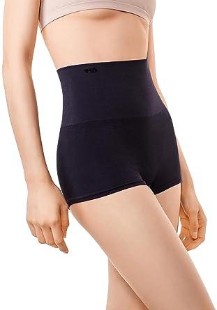 9bbe5eed2ef5 MD Womens Shapewear Compression Underwear High Waist Boyshort Panties Rear  Body Shaper Small Black