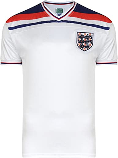 England FA - Camiseta fútbol Replica Oficial Mundial 1982 Hombre Caballero (Pequeña (S)) (Blanco): Amazon.es: Ropa y accesorios