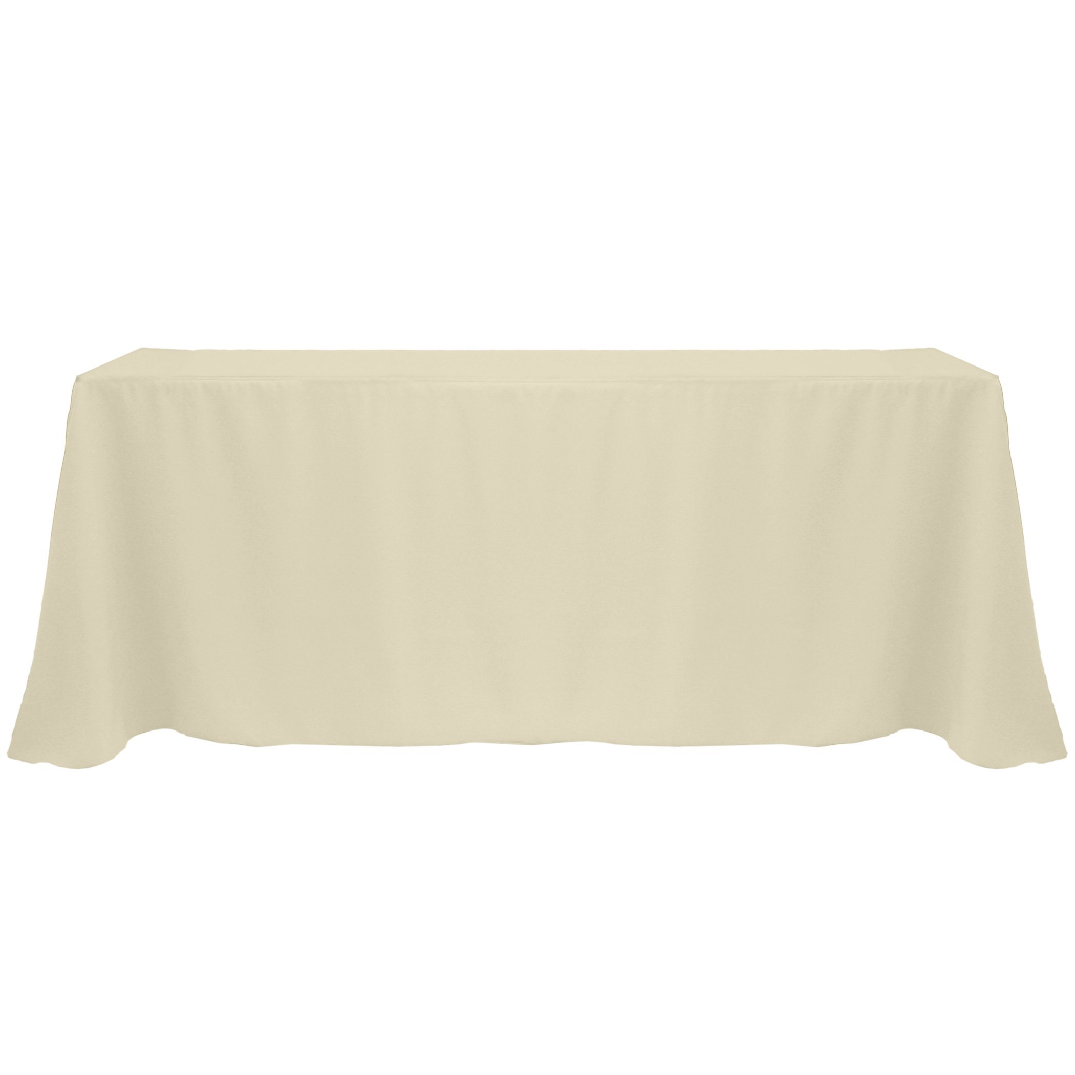 Ultimate Textile (12 Pack) 108 x 156-Inch Rectangular Polyester Linen Tablecloth with Rounded Corners - for Wedding, Restaurant or Banquet use, Tan Beige