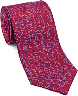 product image for Josh Bach Men's Chemistry and Science Silk Necktie, Made in USA