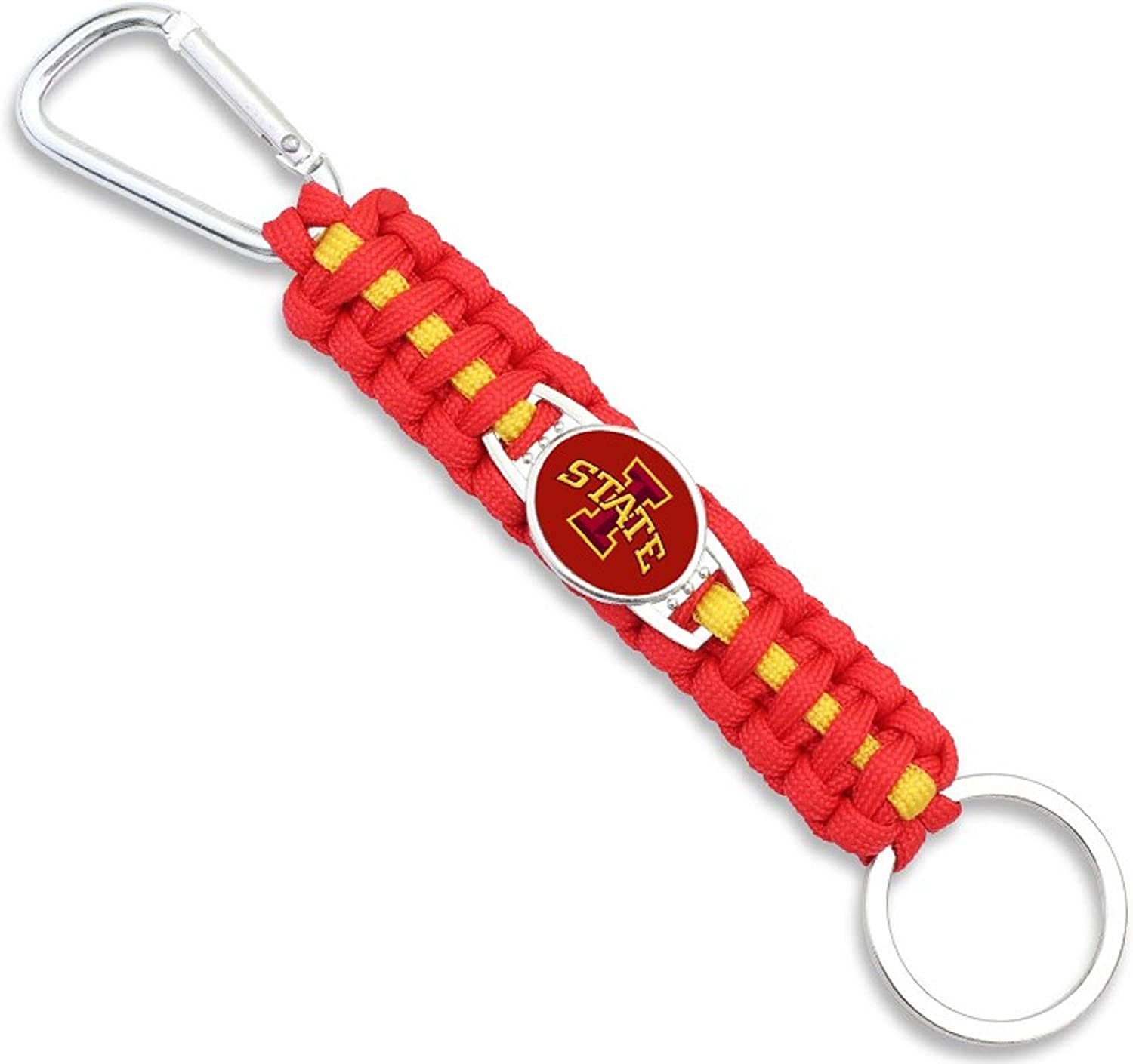 HPS Iowa State Cyclones Paracord Keychain with Caribiner