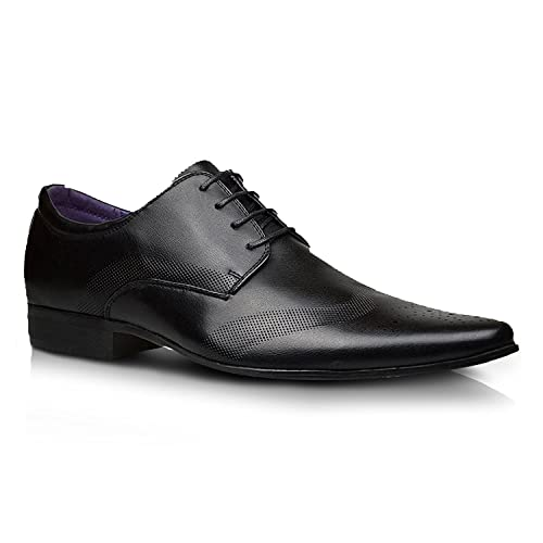 New Mens Leather Lined Formal Party Office Dress Wedding Lace Up Smart Shoes – UK Size 6 7 8 9 10 11 12