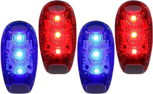 4pcs Luz LED de seguridad para corredores Bicicletas Perros Niños ...