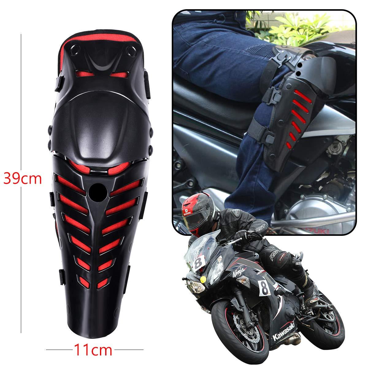 OZUAR Knieprotektoren Motorrad Kniesch/ützer R/üstungsschutz Schienbeinschoner f/ür Motocross Motorrad Fahrrad Skateboard-Fahrrad Das Taktischen Sport Schwarz 39/×11/×11cm