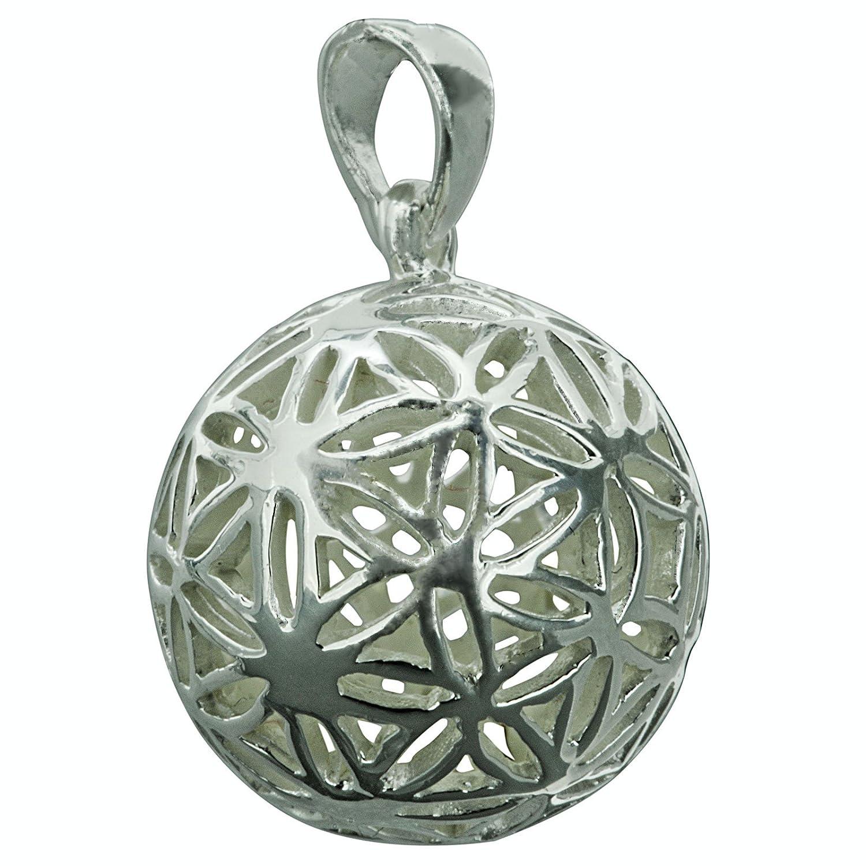 Boule Pendentif fleur de vie celtique 4/G poin/çonn/é argent sterling 925/Beldiamo