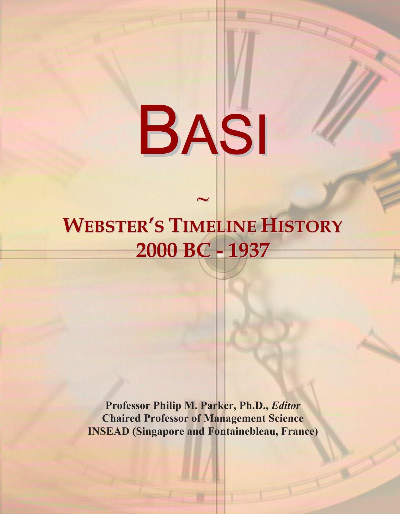 Download Basi: Webster's Timeline History, 2000 BC - 1937 ebook