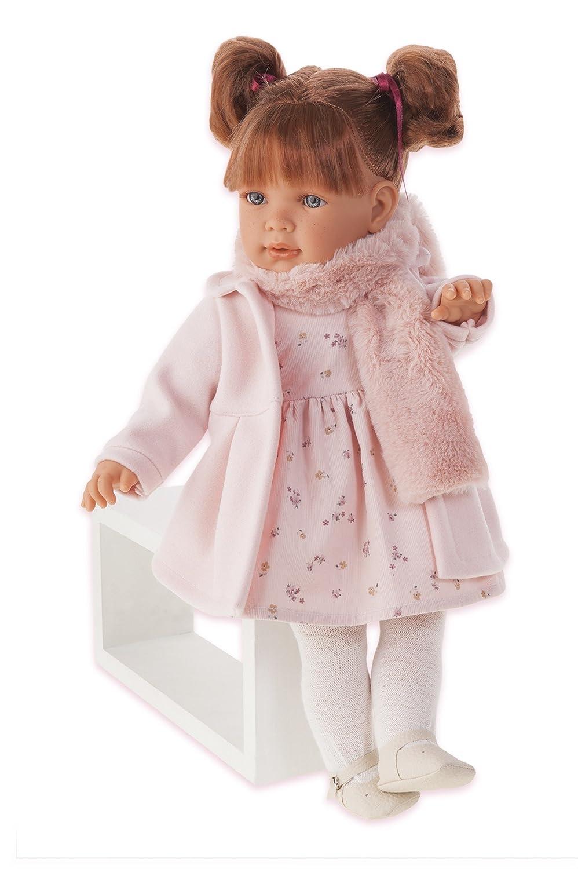 Amazon.es: Antonio Juan aj1826 - Lula bufanda muñeca realista, color rosa: Juguetes y juegos