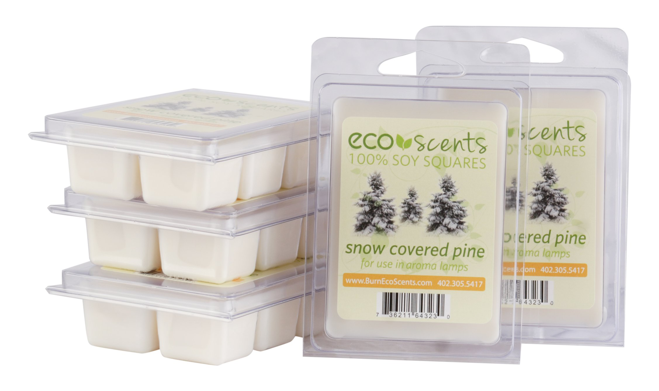 EcoScents Snow covered Pine Wax Melts (5 Pack), White