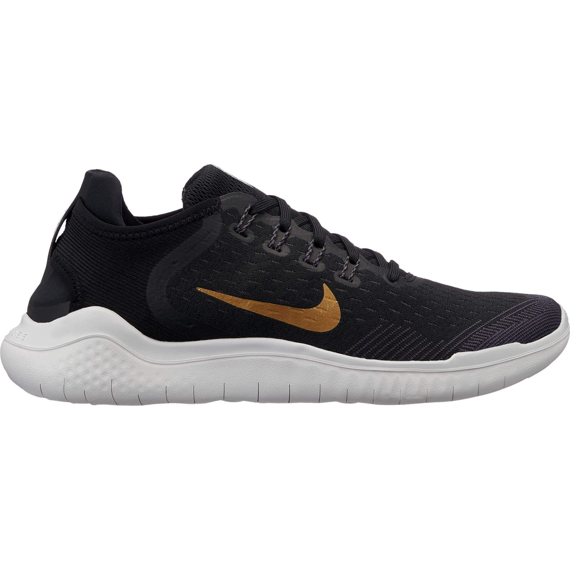 4ae0e94d6d77 Nike Free Rn 2018 Sz 10.5 Womens Running Black Metallic Gold-Vast Grey Shoes
