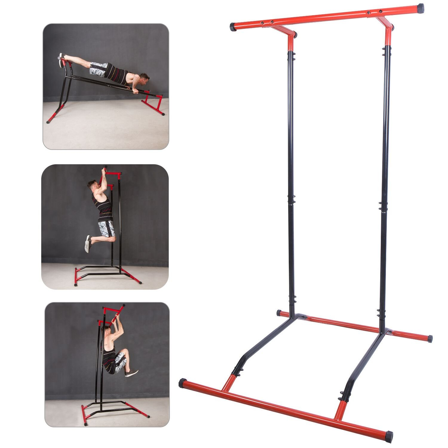CCLIFE Multifunktion Pull Up Bar mit Klimmzugstange Pull up Station Trainingsbar Fitnessstation Belastbarkeit 110 kg
