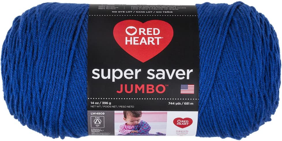 Coats Claret Yarn Red Heart E302B.0378 Super Saver Jumbo Yarn