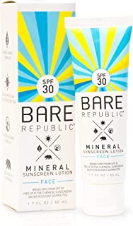 product image for Bare Republic Mineral Face Sunscreen Lotion. Lightweight, Unscented and Water-Resistant Face Moisturizer, 1.7 Ounces.