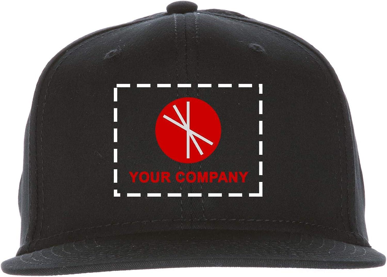 Chef Works Custom Embroidered Black Twill Skater Hat, S/M