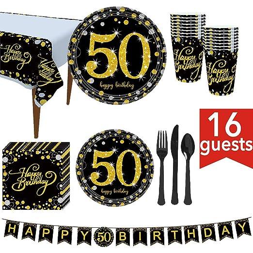Ycncixwd Suministros para fiesta de 50 cumpleaños 114 piezas ...