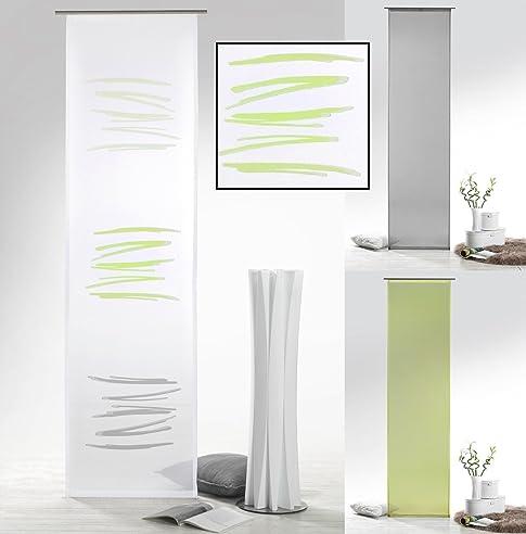 Flächenvorhang Mit Farbverlauf In Grün Grau Abstrakt Inkl. Zubehör