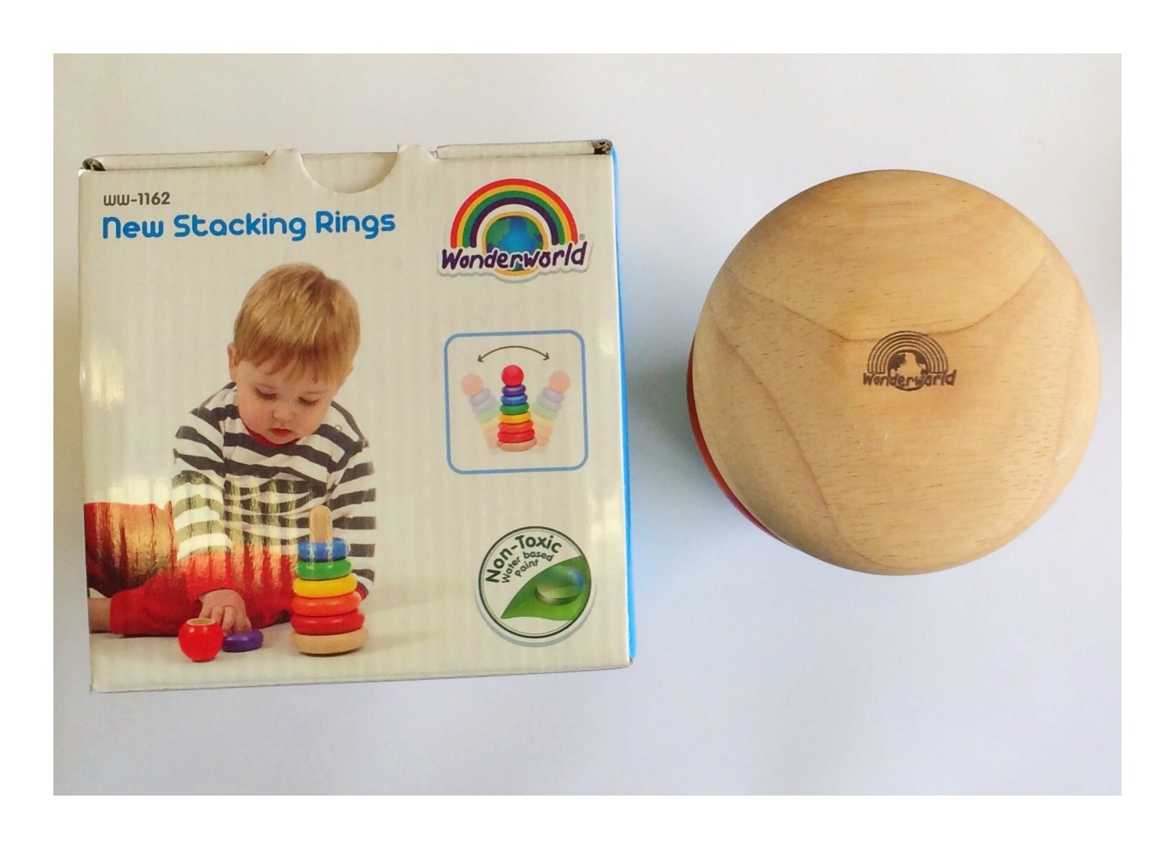 Wonderworld New Stacking Rings Baby Toy - Multi- Colored 7 Rings Non - Toxic by Wonderworld (Image #4)