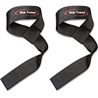Lifting Wrist Straps by Rip Toned (Pair) - Bonus Ebook Cotton Padded - for Weightlifting, Bodybuilding, Xfit, Strength Training, Powerlifting, MMA