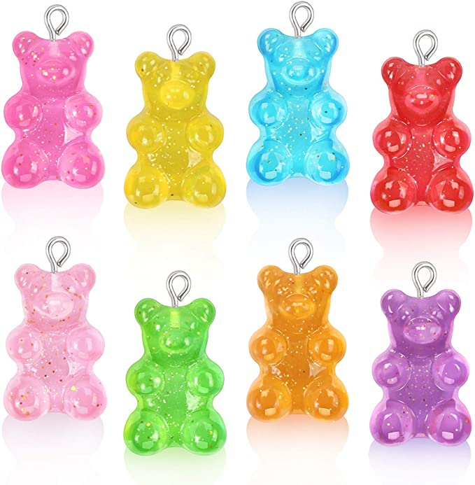 4 or 20 pcs Yellow Color Gummy Bear Charms US Seller Resin YL847