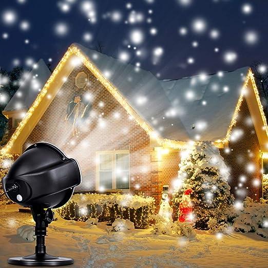 Projecteur Led Neige Extérieur Intérieur Lampe De Décoration De Noël Extérieurlampe Projecteur Led Pour Fête Mariage éclairage De Scène Lumières