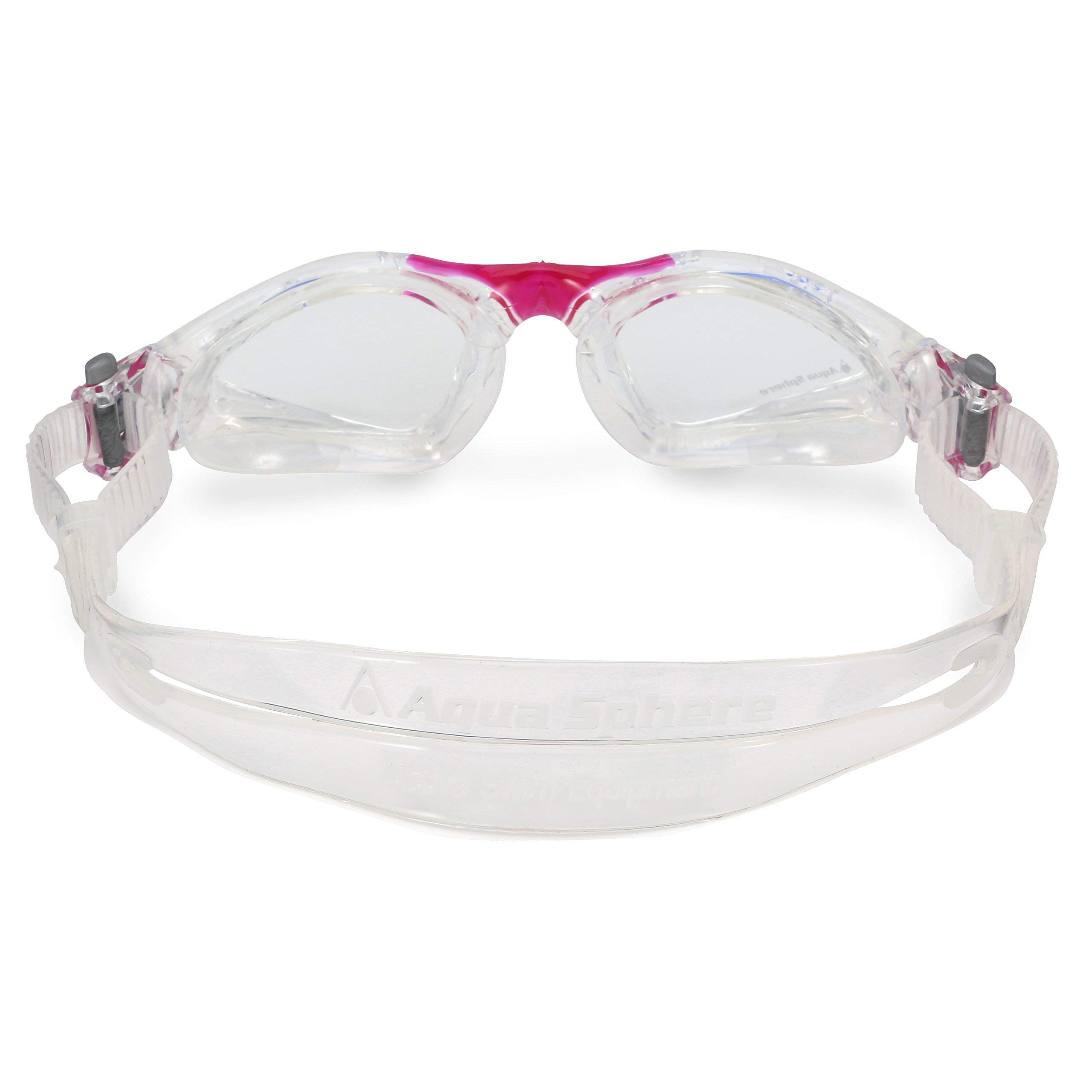 Aqua Sphere Kayenne Ladies with Clear Lens (Trasp/Fuxia) Swim Goggles for Women by Aqua Sphere (Image #5)
