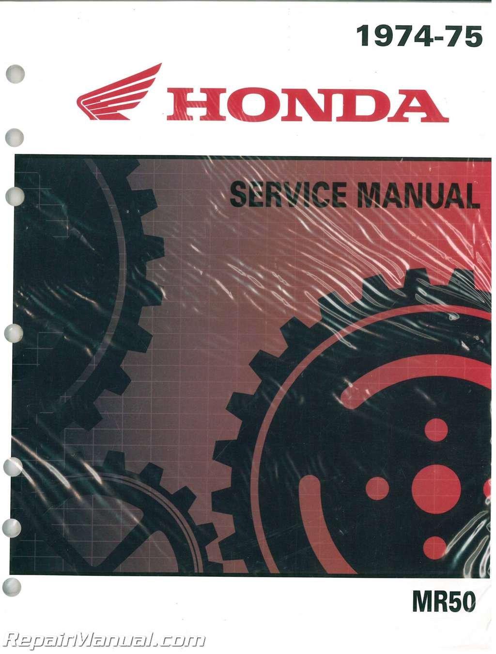 6113101 Honda MR50 Motorcycle Service Manual and Parts Manual 1974 ? 1975:  Manufacturer: Amazon.com: Books