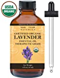 Organic Lavender Essential Oil 4 oz, USDA Certified Organic by Mary Tylor Naturals Premium Therapeutic Grade, 100% Pure, Perfect for Aromatherapy, Relaxation, DIY, Improved Mood