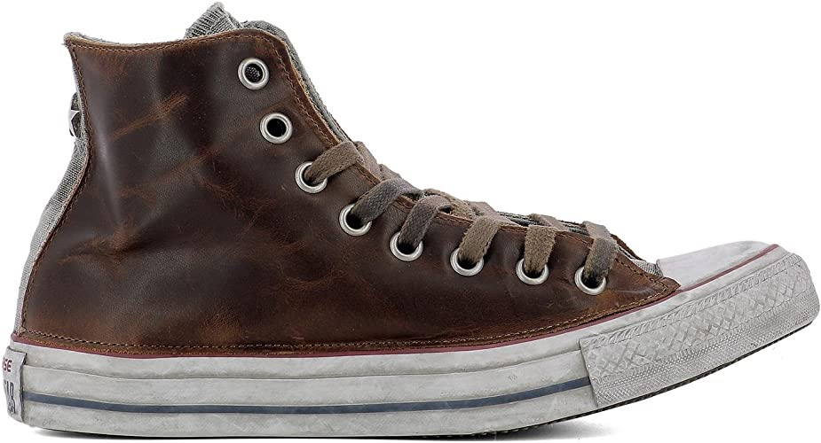Converse Homme 159053C Marron Cuir Baskets Montantes: Amazon ...