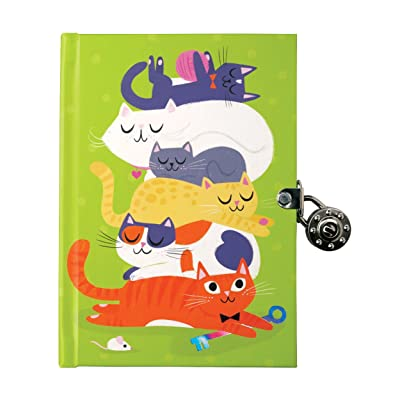 Mudpuppy Cats Locked Diary: Mudpuppy, Black, Allison: Toys & Games