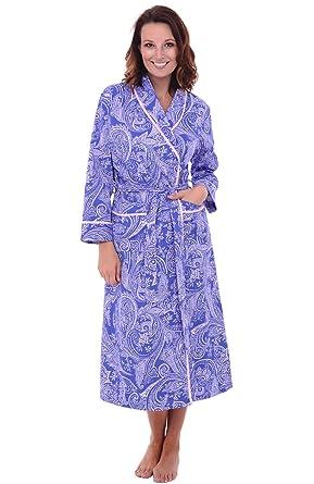 Alexander Del Rossa Womens Paisley Cotton Summer Robe a9a35acbb