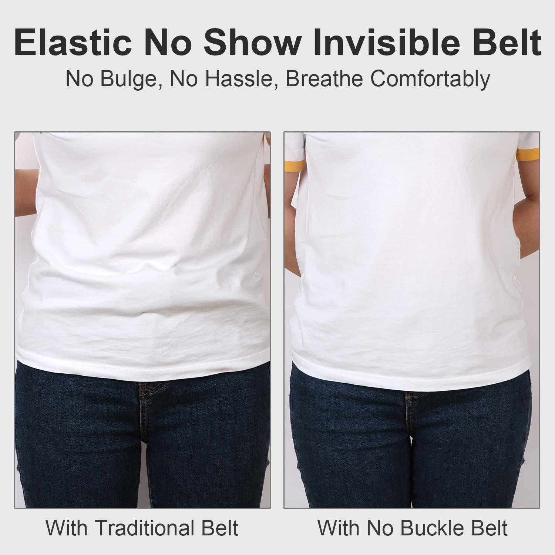 JasGood Schnallenfrei Damen Stretch Gürtel für Damen/Herren, Plus Size Keine Schnalle Unsichtbare Gürtel für Jeans Hosen