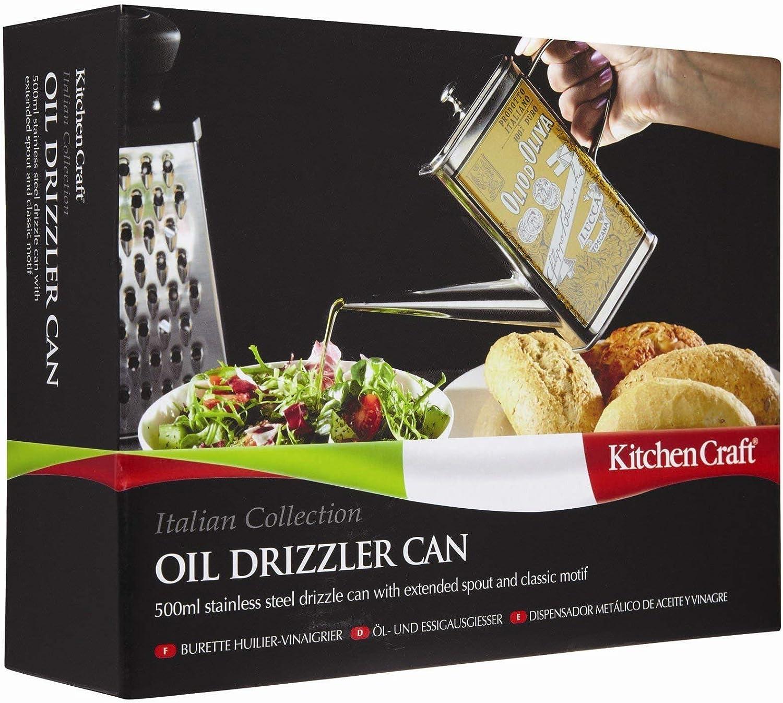 Kitchen Craft Italian Collection Edelstahl-Ölkännchen