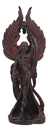 Ebros Irish Celtic War Goddess Morrigan The Phantom Queen Statue Valkyrie Counterpart Battle Pose Figurine Home Decor Statue Triple Goddess Danu Mythology Represents Circle Of Life And Death