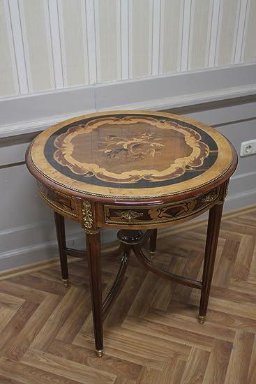 Case Tavolo Legno Cucina Antico.Louisxv Barocco Side Tavolo Antico Stile Mkta0101b Legno