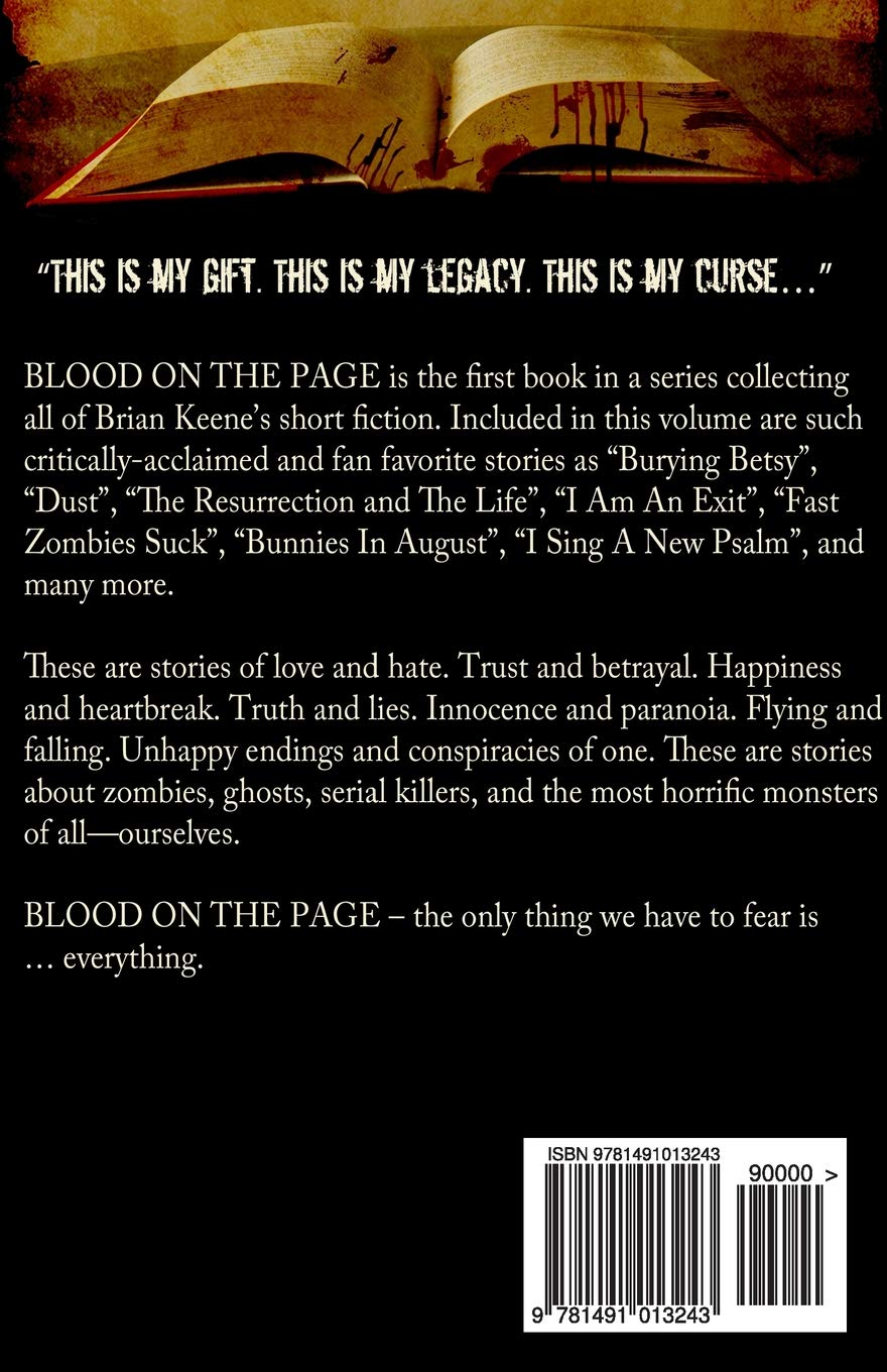 Blood on the Page: The Complete Short Fiction of Brian Keene
