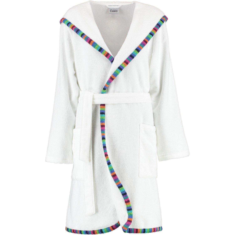 Cawö - Damen Bademantel mit Kapuze in Kurzform, Farbe Weiß (2147)