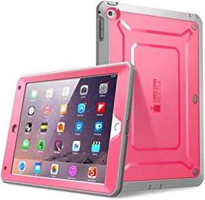 SUPCASE [Unicorn Beetle PRO Series] [Heavy Duty] Case for iPad Air 2,[2nd Generation] 2014 Release Full-Body Rugged Hybrid Protective Case with Built-in Screen Protector (Pink)
