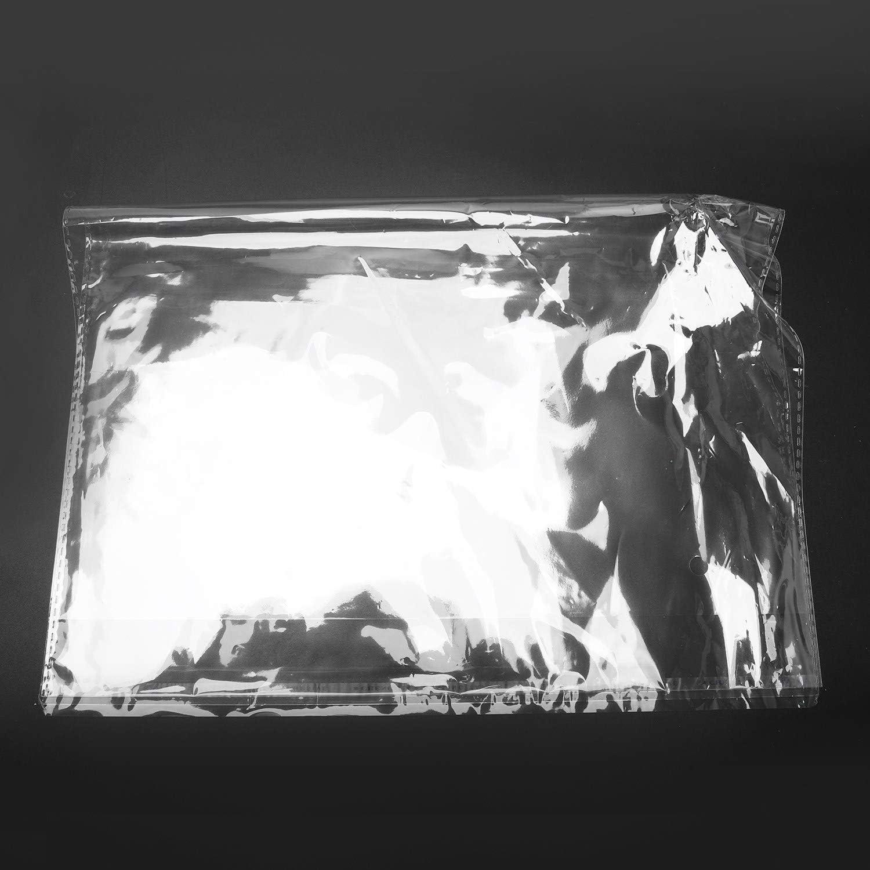 100 Bolsas de pl/ástico Autoadhesivas A3, 45 x 32 cm RETYLY Transparente