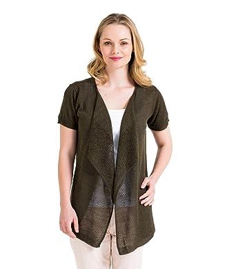 Amazon.com: WoolOvers Womens Lightweight Linen and Viscose Mesh ...